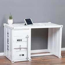 Schreibtisch Computer Schreibtisch Container In Weiß Im Industrie Design Sekretär 6411