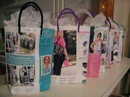 use catalogs as gift bags hey you can get your troop to
