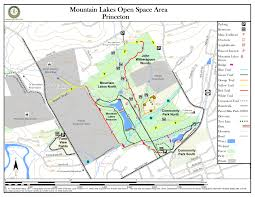 Green Circle Trail Map Mountain Lakes Open Space Area New Jersey Trails Association