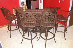 furniture brown polished wrought iron extra tall bar stools with