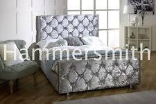 Velvet Sleigh Bed Velvet Bed Ebay