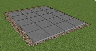 Laying Patio Slabs On Grass Building A Storage Shed Foundation In Your Garden