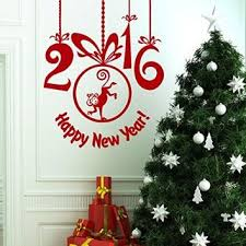 Happy New Year Room Decoration by Wall Decals Happy New Year 2016 Monkey From Amazon Christmas