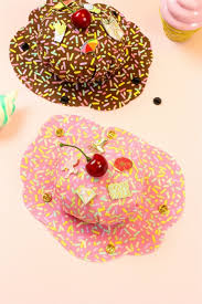 no sew diy splattered ice cream pin cushions brite and bubbly