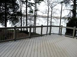 composite lake deck with metal railing composite and vinyl pvc