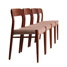 model no 75 teak dining chairs by niels otto moller for jl