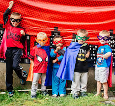 Superhero Backdrop Trace U0027s 4 Year Old Superhero Birthday Party Simonemadeit