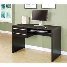 modern small corner computer desk with many storage interior in