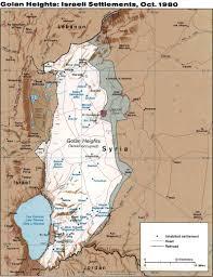 Israel World Map Israel Syria Alpha Fence Golan Heights