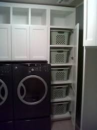 Laundry Cabinet With Hanging Rod Inspiring Spaces U2013 Laundry Rooms Dryer Washer And Laundry