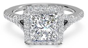 square engagement rings with halo 5 square engagement rings to adore ritani