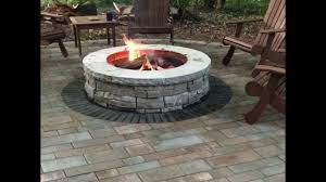 Unilock Fire Pit by Unilock Rivercrest Fire Pit Kit In Action Youtube