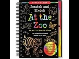 at the zoo scratch sketch an art activity book for animal lovers