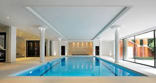 Interior Swimming Pool Houses Stylish Indoor Pool Is Visually Connected With The Pool Outside