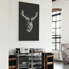 Stag Head Home Decor Stag Head Vinyl Wall Sticker By Oakdene Designs