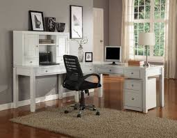 Modern L Shape Desk by Modern Home Office With L Shaped Desk Office With White Color And
