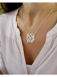 monogram necklaces gold personalized gold monogram jewelry sterling silver monogrammed