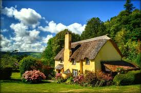 Beautiful Cottage Other Cottage Hills Beautiful Clouds Flowers Spring Meadows