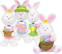 bunny decorations gift boutique easter decorations 4 easter bunnies figurine