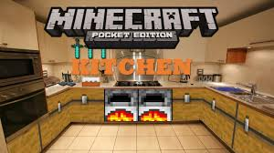 minecraft kitchen ideas minecraft pocket edition build tutorials episode 2 kitchen