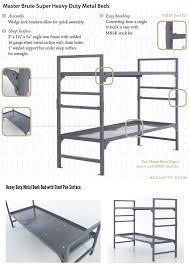 Heavy Duty Metal Bunk Beds Metal Beds Intensive Use Commercial Grade - Heavy duty bunk beds