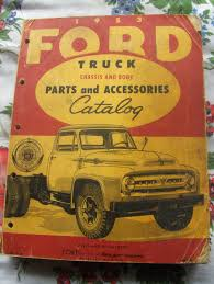 Vintage Ford Truck Advertisements - sale pending u002753 ford truck chassis u0026 body parts catalog 25