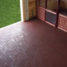 a variety of pictures of rubber flooring installations in various
