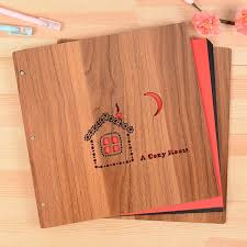 personalized album 12 inch 2017 hot wooden cover albums handmade leaf pasted