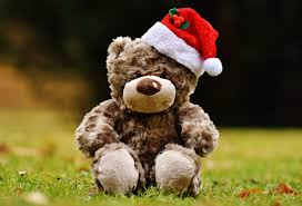 free images christmas material teddy bear santa hat textile