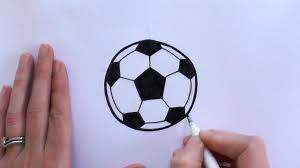 how to draw a cartoon football soccer ball youtube