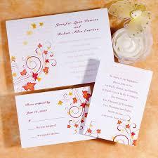 wedding cards invitation orange maple leaves wedding invitation card infw003 infw003