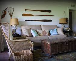 Cool Wicker Chair Lake House Decorating Ideas Along With Oars For - Lake home decorating ideas