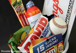 baseball gift basket sports themed gift hoosier