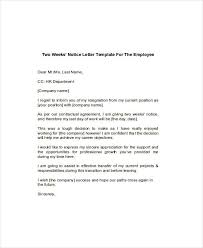 6 two weeks notice examples samples
