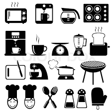 kitchen icon set of kitchen icons for web vector format stock vector colourbox