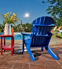 exterior interesting patio design with polywood adirondack chairs
