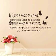 free shipping wall decal alice in wonderland wall sticker english free shipping wall decal alice in wonderland wall sticker english proverbs home decor mural wall sticker in wall stickers from home garden on