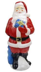 general foam plastics 34 outdoor light up mold santa decoration