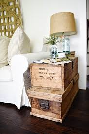 Chest End Table Living Room Makeover Stacked Trunk End Table Liz Marie Blog