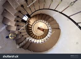 spiral staircase scottys castle death valley stock photo 67495693
