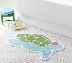 Sea Turtle Bathroom Accessories Turtle Shaped Bath Mat Pottery Barn Kids