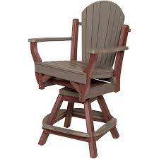 Amish Poly Outdoor Furniture by Amish Outdoor Poly Fan Back Swivel Balcony Chair Patio Furniture