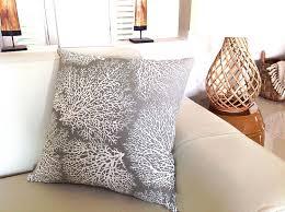 coastal cushions coastal pillows beach decor driftwood coral