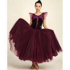 dark purple v neck velvet sleeveless long length full skirted