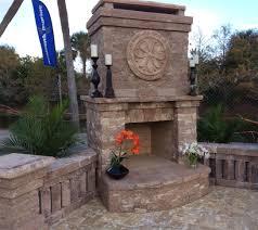 custom brick paver fireplaces construction landscape