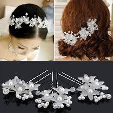 bridesmaid hair accessories hot wedding hair accessories pearl flower hair barrettes bridal