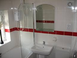 bathroom ideas for decorating with burgundy and white tiles great