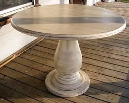 42 Dining Table 42 Inch Pedestal Table Solid Wood Pedestal Handcrafted