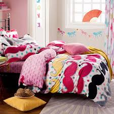 Comfortable Bed Sets Comfortable Bed With Pink Mustache Bed Set Beside