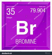 Bromine Periodic Table Bromine Symbol Element Number 35 Periodic Stock Vector 518203837